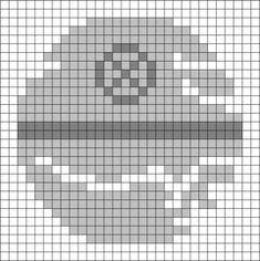 Star Wars Death Star Return of the Jedi hama perler beads Star Wars Crochet, Pixel Crochet, Crochet Stars, Graph Crochet, Crochet Geek, Crochet Pattern, Free Pattern, Perler Patterns, Quilt Patterns