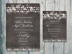 Digital Printable Files Chalkboard Royal by WeddingSundaeShop