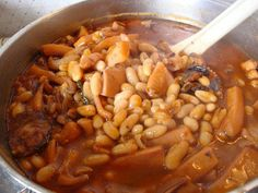 Feijoada de choco - Portuguese beans with cuttlefish   Recipe. www.portugaldreamcoast.com