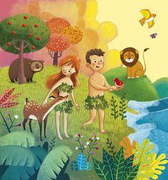 Bible Illustrations, Children's Book Illustration, Scripture Doodle, Bible Images, Catholic Art, Kids Church, Bible Stories, Book Design