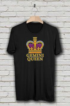 Gemini Shirt, Gemini Queen Zodiac T-Shirt, Born in May and June, Birthday Shirt, Astrology Gift, Plu