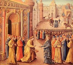 Raymond of Poitiers welcoming his niece Eleanor of Aquitaine and her husband Louis VII in Antioch. The King & Queen of France were on their way to Jerusalem on the Crusade. Second Crusade, Eleanor Of Aquitaine, Central Michigan University, African Origins, Poitiers, Plantagenet, Medieval Costume, Chivalry, European History