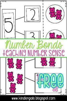 Using Number Bonds to help teach number sense in kindergarten math! Using Number Bonds to help teach number sense in kindergarten math! Number Sense Kindergarten, Kindergarten Anchor Charts, Kindergarten Math Activities, Preschool Math, Math Classroom, Math Games, Kindergarten Freebies, Teaching Numbers, Teaching Math