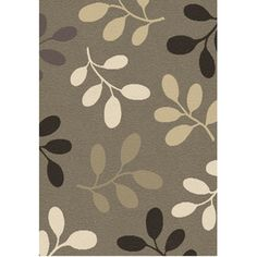 Balta 3-ft 11-in x 5-ft 6-in Gray Pressed Leaves Area Rug Laundry Room Rugs, Renovation Hardware, Pressed Leaves, Floral Area Rugs, Lowes Home Improvements, Home Textile, Living Room Decor, Dining Room, Home Accessories