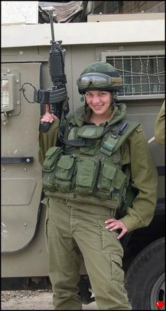 A woman with a gun is often seen as a sex symbol, when really there are hundreds of women with guns wearing the same things as men, fighting for us. Thank you for your service!