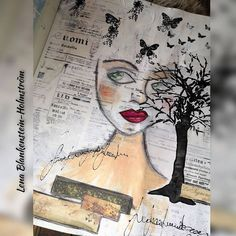 """Lena Blankenstein-Holmström sanoo Instagramissa: """"Daily Art Journal page 27.12.2020 #instaart #finnishartists #finnishart #mixedmedia #art#artjournal #artist #lifestyleblogger…"""" Art Journal Pages, Insta Art, Mixed Media, Artist, Artists, Mixed Media Art"""