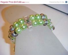 SPRING TRENDS SALE Two Layer Green Pearl and by PaganCellarJewelry, $13.49