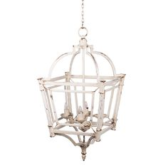Check CHANDELIER A&B Home Classic Vintage Bird Cage, Antique White Chandelier Inspired by the shape of classic bird cages, this charming chandelier features an especially whimsical aesthetic. Birdcage Chandelier, Lantern Chandelier, Rectangle Chandelier, 3 Light Chandelier, Pendant Lighting, Chandelier Ideas, Kitchen Chandelier, Antique Chandelier, Light Pendant
