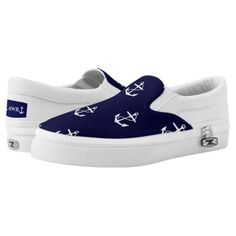 Opus Posh Anchor Nautical Custom Women's Slip-On Sneakers 5k running, spinning tips, running schedule intermediate #fit #coloradoblogger #lifestyleblogger, back to school, aesthetic wallpaper, y2k fashion Women Slip On Sneakers, Kids Sneakers, Custom Sneakers, Slip On Shoes, Ladies Slips, Keds, Anchor, Nautical, Baby Shoes