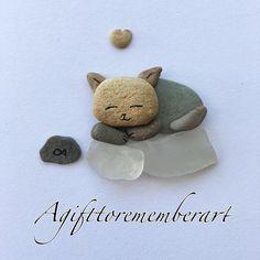 """""""Sleeping kitten"""" #pebbles"""