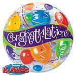 Balloon: 22'' Congratulations Bubble Balloon (each)