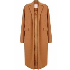 The 2nd Skin Co Camel Wool Maxi Coat (830 LYD) ❤ liked on Polyvore featuring outerwear, coats, jackets, camel, coats & jackets, camel maxi coat, camel hair coat, long maxi coats, long beige coat and maxi coat
