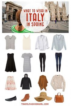 What to Wear in Italy: Packing List Update) Traveling to Italy in the Spring? Use this comprehensive packing guide to help you pack stylishly light for destinations like Milan, Rome, and Venice. Italy In March, Spring In Italy, Europe Spring, Italy Winter, London Spring, Europe Travel Outfits, Travel Outfit Summer, Travel Wardrobe, Capsule Wardrobe