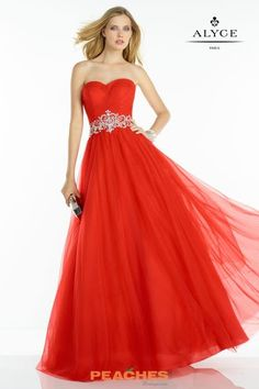 A LIne Alyce Paris Ball Gown Dress 6605