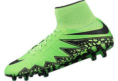Nike Hypervenom Phantom II FG Soccer Cleats - Green and Black. At www.soccerpro.com