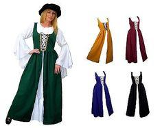 RENAISSANCE FAIR MEDIEVAL PIRATE PEASANT COSTUME SKIRT BODICE IRISH OVER DRESS