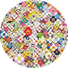 Superflat My First Love Flowers by Takashi Murakami