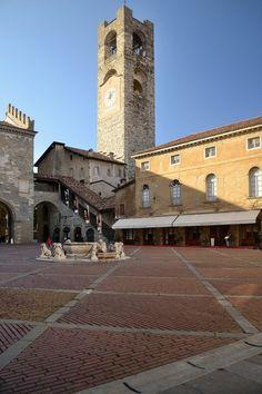 Piazza Vecchia - Bergamo, Lombardy, Italy