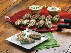 Johnsonville Cheesy Pepper Poppers recipe  via Food Network