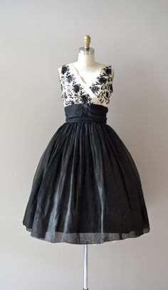 50's black and white cocktail dress