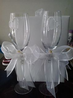 Decoración copas de boda