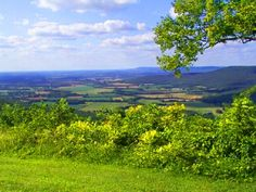 Sewanee, TN : Greens View, A beautiful place to go to look off the bluff into the valley.