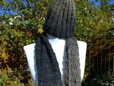 Handmade  Infinity Scarf and Hat set by BallAndHook on Etsy