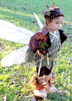 """Homemade Boy Fairy Costume: I made this Homemade Boy Fairy Costume, apart from the wings which I bought, when I couldn't find anything I liked.  I modeled it after """"Terrance"""" from"""