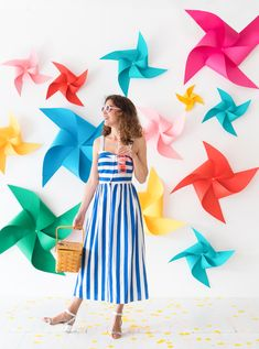 Spinning Pinwheel Backdrop
