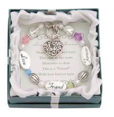 Love, Friend, Forever Silver & Crystal Expressively Yours Bracelet DM Merchandising,http://www.amazon.com/dp/B000NZUX5O/ref=cm_sw_r_pi_dp_Bhbotb13K6DDG5FX