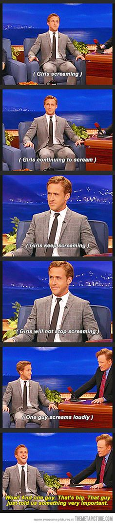 It's not just girls who like Ryan Gosling…
