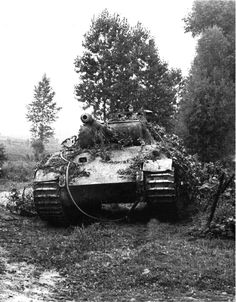 V Panther Ww2 Pictures, Ww2 Photos, Military Pictures, Panzer Iii, Mg 34, Panther Pictures, World Conflicts, Ww2 History, Tiger Tank