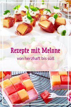 Viel #Frische, wenig Kalorien: #Melone ist im #Sommer eine beliebte Köstlichkeit, egal ob pur zum Naschen oder als Zutat. Aus #Wassermelone, #Honigmelone und Co. lassen sich tolle Melonen-Rezepte zubereiten: Von #Salaten und kalten #Suppen über #Kuchen, #Desserts und #Fingerfood bis hin zu Getränken und leckeren #Cocktails - mit und ohne Alkohol. Unsere Melonen-Rezepte bieten Vielfalt für jeden Tag und jeden Anlass. #melonenrezepte #sommerrezepte #sommergetränke #cocktails #bowle