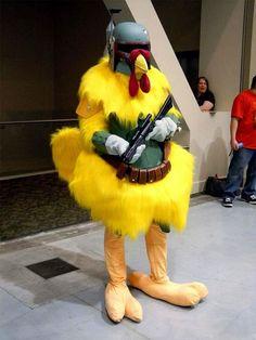 Boba Fett Chicken! I love this for way too many reasons! hahaha  LOL, hilarious. - MKC