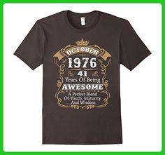 Mens Vintage Limited October 1976 Edition - 41th Birthday Gift Medium Asphalt - Birthday shirts (*Amazon Partner-Link)