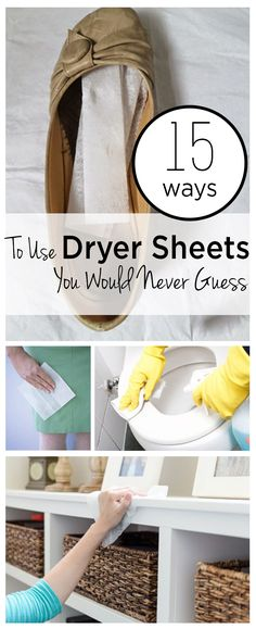 Dryer sheets, how to use dryer sheets, unique uses for dryer sheets, popular pin, cleaning hacks, clean home, clean tips.