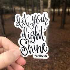 This sticker is hand drawn and hand lettered. It would look so cute on a laptop, vehicle, your Bible, or water bottle just to name a few ideas! It would also be the perfect addition to your sticker collection! Laptop Stickers, Diy Stickers, Bumper Stickers, Sticker Ideas, Sticker Designs, Laptop Decal, Car Decals, Laptop Case, Let Your Light Shine