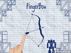 Finger Bow  Android Game - playslack.com , wreck robots with your strong bow and humors. Shoot into the target and use non-identical objects on the stage. Use your cognition qualities to wreck robots in this game for Android. Touch the screen, move a bow, carefully aim and knocked  the target. Aim directly at robots or use a collection of inclinations and mechanisms to wreck them. Shoot entrances, aim at controls to non-identical devices and other objects that will support you finish stages.