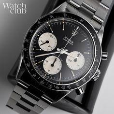 black dial, black bezel ref 6241 #daytona