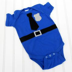 Police Officer- Cop - Policeman Baby onesie sewn cotton applique. $14.00, via Etsy.  So want this!