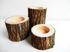 Wood Candle Holders Tree Branch Candle Holder by DaliasWoodland