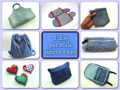 Broches, mochilas, estuches... ¡incluso unas zapatillas! Todo tipo de ideas para reciclar unos vaqueros.