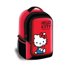 """Hello Kitty KT4337R Backpack Style 15.4"""" Laptop Case, Red Hello Kitty"""