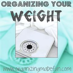 Get your new year off right - organize your weight loss!
