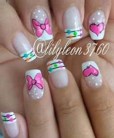 Uñas Love Nails, Fun Nails, Pretty Nails, Simple Nail Art Designs, Beautiful Nail Designs, New Nail Art, Cute Nail Art, Fabulous Nails, Perfect Nails
