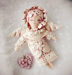 Christmas decoration handmade of fabrics
