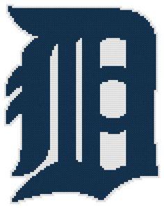 Counted Cross Stitch Pattern Detroit Tigers Logo by AnjisAntics