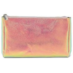 Forever21 Iridescent Makeup Bag ($6.90) ❤ liked on Polyvore featuring beauty products, beauty accessories, bags & cases, bags, clutches, filler, toiletry kits, travel toiletry case, make up bag and travel kit