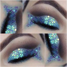 Mermaid Eyes, Mermaid Makeup, Fish Makeup, Makeup Eyeshadow, Eyeshadows, How To Make Hair, Make Up, High End Makeup Brands, Sea Costume