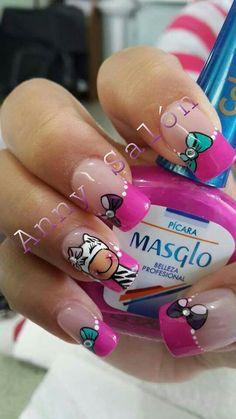 UÑAS Diy Nails, Cute Nails, Beauty Nails, Hair Beauty, Magic Nails, Nails Inspiration, Nail Designs, Nail Art, Manicures